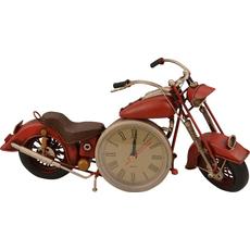 Ura namizna motor rdeč, kovina 29.5x9.5x15.5cm