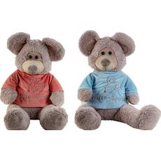 "Miš plišasta v roza/modrem puloverju ""Special"", 100cm sort"