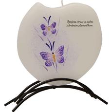 {[sl]:Sveča dišeča na stojalu, viola metulja - Ognjena strast se začne..., v