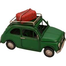Avto zelen s prtljažnikom dekoracija kovina 16x7.5x8.5cm