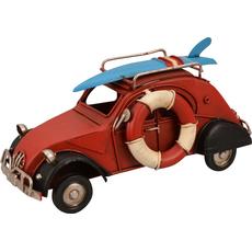 Avto Spaček rdeč z jadralno desko dekoracija kovina 16.5x7.5x8cm
