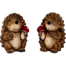 Dekorativna figurica — ježek z mušnico Material: keramika Višina: 14,5 cm Izdelek je na voljo v več različicah, zato med nakupom izberite želeno. Navedena je cena za en kos.