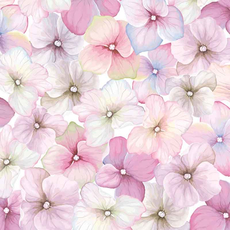 Papirnate serviete, cvetovi hortenzije, 33x33cm, 20kom