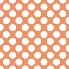 Papirnate serviete, oranžne z belimi pikami, 33x33cm, 20kom