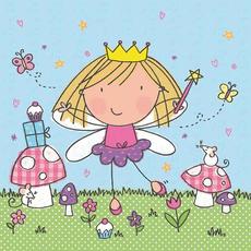 Papirnate serviete, princesa z čarobno palčko, 33x33cm, 20 kom