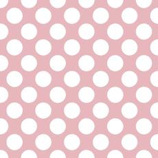 Papirnate serviete, roza z belimi pikami, 33x33cm, 20kom