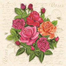 Papirnate serviete, vrtnice, 33x33cm, 20kom