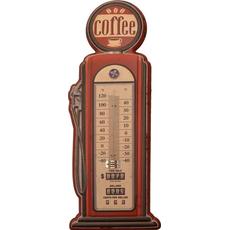 Termometer sobni kovinski v obliki črpalke Coffee 47,5x19cm