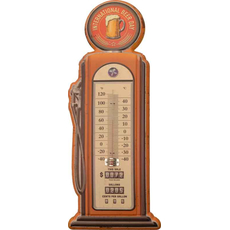 Termometer sobni kovinski v obliki črpalke International Day Beer 47,5x19cm