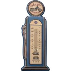 Termometer sobni kovinski v obliki črpalke Motorcycles 47,5x19cm