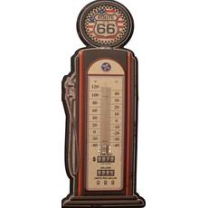 Termometer sobni kovinski v obliki črpalke Route 66 47,5x19cm