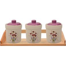 {[sl]:Posode za shranjevanje z vijoličnim pokrovom na podstavku keramika 10,5x