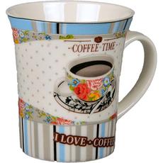 Lonček s skodelico kave porcelan 9x10cm sort