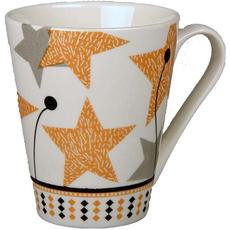 Lonček zvezde porcelan 8,5x10,5cm sort