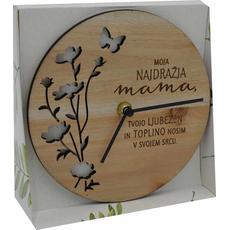 Ura namizna/stenska  Moja najdražja mama, tvojo ljubezen…, 17 cm mediapan