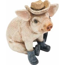 Figura pujs v škornjih in klobuku, 14.5x10.5x15cm polimasa