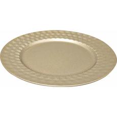 Krožnik dekorativni zlat PVC  33x33x1.5cm