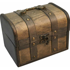 Skrinja lesena za shranjevanj siva, 16X12X12cm