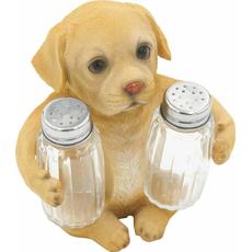 Stojalo za sol poper kuža oker polimasa/steklo,  13.5x8.5x14.5cm