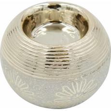 Svečnik za čajno lučko, barve šampanjec 8x8x7cm