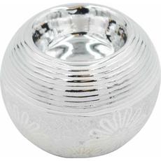 Svečnik za čajno lučko srebrn 8x8x7cm