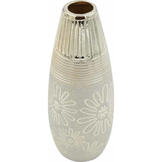Vaza dekorativna, barve šampanjec 7,5x7,5x19cm
