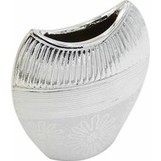 Vaza dekorativna srebrna 16x6,5x19,5cm