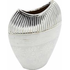 Vaza dekorativna srebrna 19x7x27cm