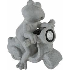 Žaba na vespi s solarno lučko, 36x23.5x36.5cm