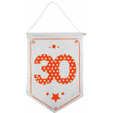 Zastavica iz blaga bela 30, 23.5x33.5cm