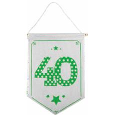 Zastavica iz blaga bela 40, 23.5x33.5cm
