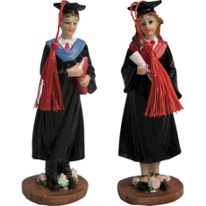 Diplomiranec s knjigo / diplomiranka z diplomo 6x5x17cm sort