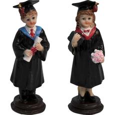 Diplomiranec z diplomo / diplomiranka s šopkom 4,5x15cm sort