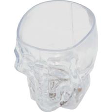 Kozarec za žganje z LED lučko smrtna glava, PVC, menja barve, 5.5cm