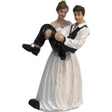 Mladoporočenca nevesta nese ženina 8x6x15cm