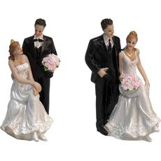 Mladoporočenca nevesta sedi ob ženinu 7x6x13cm sort