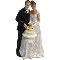 Mladoporočenca ob rezanju torte 6,5x6x13cm sort