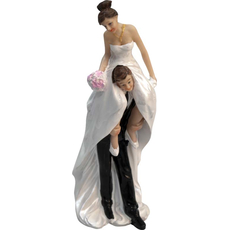 Mladoporočenca ženin nese nevesto 7x21cm
