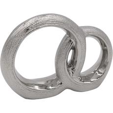 Prepletajoča prstana srebrna, 18.3x4.5x13.5cm, porcelan
