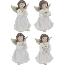 Angel s srcem/sv. pismom/moli, 6X5.5X10cm, polimasa, sort.