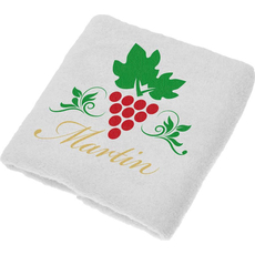Brisača za  Martinovo, Martin, rdeči grozd pokončen, 100x5Ocm, 100% bombaž