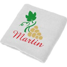 Brisača za  Martinovo, Martin, zlati grozd ležeč, 100x5Ocm, 100% bombaž