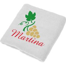 Brisača za  Martinovo, Martina, zlati grozd ležeč, 100x5Ocm, 100% bombaž