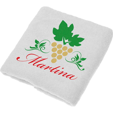 Brisača za  Martinovo, Martina, zlati grozd pokončen, 100x5Ocm, 100% bombaž