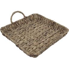 Košara namizna z ročaji, pletena, kvadratna, 32x32x5cm
