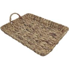 Košara namizna z ročaji, pletena, podolgovata, 45x35x6cm