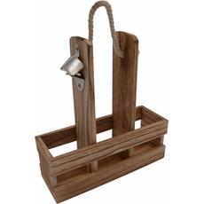 Nosilka lesena za pivo, za 3 kose, z odpiračem, 24x9x29cm sort