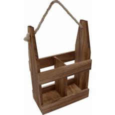 Nosilka lesena za vino, za 2 kosa, 20x11x30cm