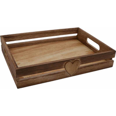 Pladenj lesen, mali, srček, 25x18.5x5cm