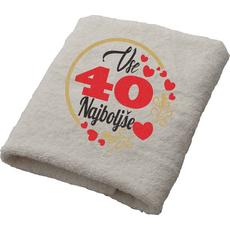 Brisača Vse najboljše 40 srčki 100x5Ocm 100% bombaž